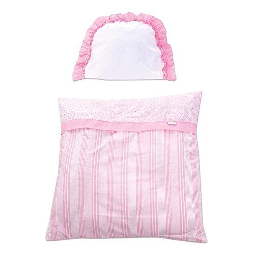 Gesslein 710013 Parure de lit comprenant Couverture et coussin, fleur rose