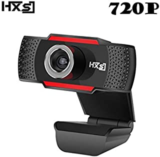 DishyKooker USB Web Camera 1080P HD 2MP Computer Camera Webcams Built-in Sound-Absorbing Microphone S30 HD 720P Black