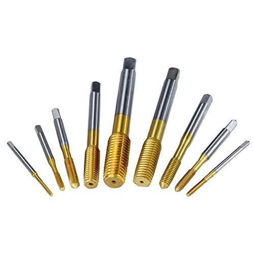 BYOLPMKK Broca Los grifos de extrusión M2-M12 Fluteless La formación de Recubrimiento de Tin Máquina machos de roscar Rosca métrica Plug Tap Tap Taladro Rosca de Tornillo (Color : No.6 M6x1)