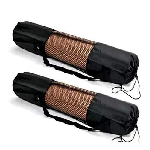Carrier Tapis de Yoga Sac de Transport en Nylon Maille réglable Sangle Lavable, Sac d'exercice de Haute qualité en Nylon Maille