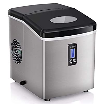 ADT Ice Makers Countertop 35lbs/24h Portable Ice Maker (35lbs LCD)