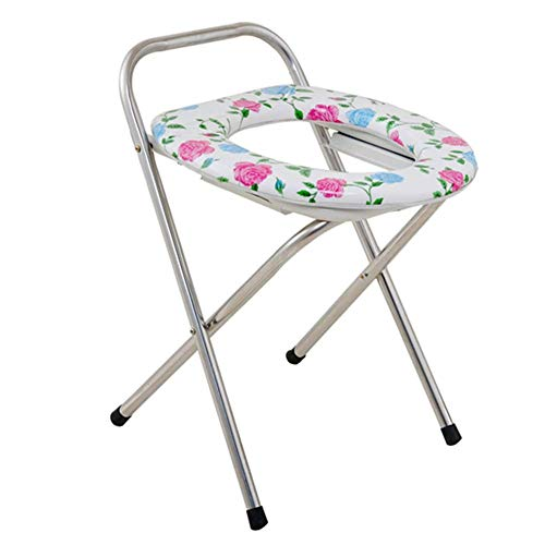 Z-SEAT Zusammenklappbare schwere bariatrische Kommode, Toilettenstuhl am Krankenbett, Sicherheitsrahmen für das Badezimmer, für ältere Menschen, Erwachsene