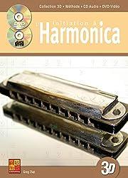 Initiation à l\'harmonica en 3D (1 Livre + 1 CD + 1 DVD)