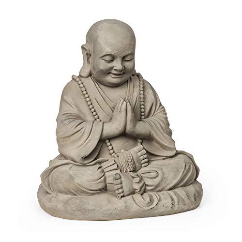 blumfeldt Anjali - Gartenfigur, 43 x 52 x 38 cm (BxHxT), Material: Fibreclay, für drinnen und draußen, UV- & Frostschutz, witterungsbeständig, braun
