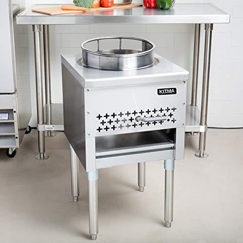 "Kitma 13"" Gas Wok Range - Commercial Liquid Propane Cooking Performance Group - Restaurant Equipment, 95,000 BTU"