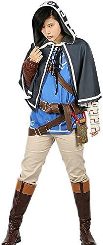 Xcoser Herren Cosplay Link Kostüm Deluxe Outfit mit Zubeh Erwachsene Verrückte Kleidung Anzug für Halloween Party