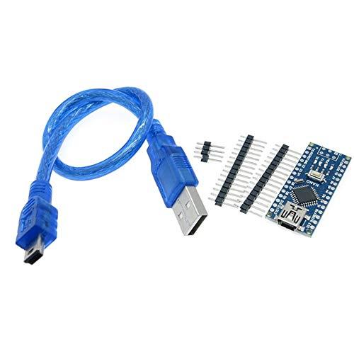 Nano Controller Nano 3.0 controller compatible with arduino nano CH340 USB driver with CABLE NANO V3.0 CH340G (Color : 1PCS)