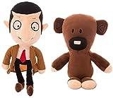 Yzhome 2Pcs 30 Cm Kawaii Mr Bean Teddy Bear Plush Cute Stuffed Toy Mr.Bean Toys Presente para Niños ...