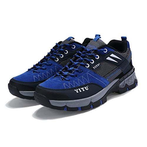 HETUI Escalada al Aire Libre Senderismo Botas de montañismo Calzado Deportivo Antideslizante para Pareja (Royal Blue, 45)