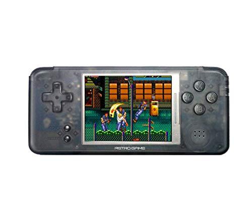 DroiX RetroGame RS-97 PRO Transparent [Versión HW: V2.1] Consola de juegos retro mini mano Arcade - CPU de doble núcleo, ROM 16GB
