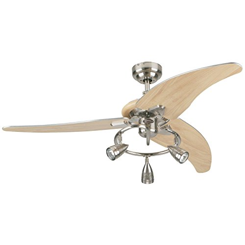 Westinghouse Lighting 7850500 Elite 48-Inch Brushed Nickel Indoor Ceiling Fan, Light Kit...