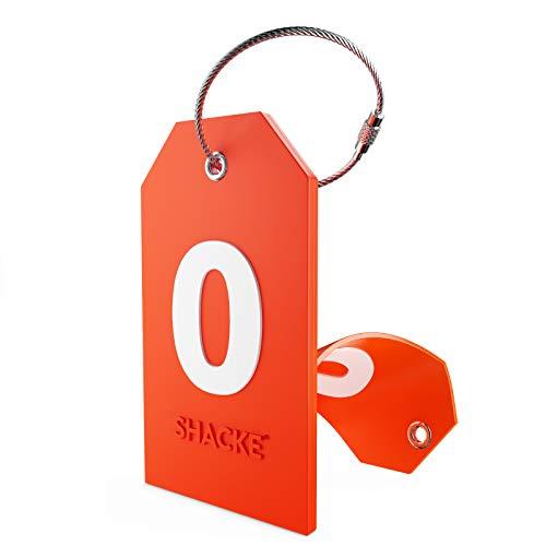 Etiqueta Inicial para Equipaje con Cubierta de privacidad Completa y Bucle de Acero Inoxidable (número 0)