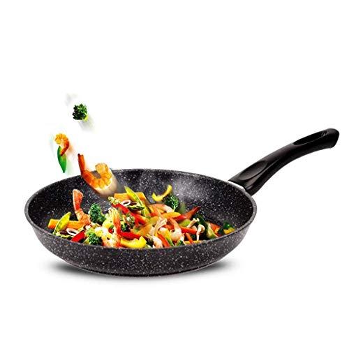 SKYEI Haushaltstopf, Kochgeschirr-Topf-MAIFAN-Stein-Non-Stick-Wok-Pfanne Uncoated No-Rauch-Steak-Omelett-Kochergas-Universal-Pfanne 26cm