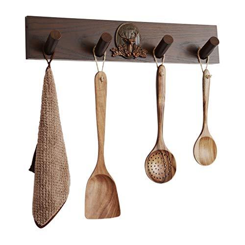 47-B Gancho de madera maciza de estilo nórdico creativo decorativo para pared para sala de estar o puerta trasera
