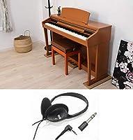 【電子ピアノ 騒音対策 セット】 電子ピアノ専用マット 3PointsMat + KORG コルグ ヘッドホン KH-60M 【変換プラグ付きで標準/ミニプラグ共に対応!】 (CH チェリー)