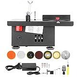 Mini sierra de mesa, multifuncional, torno de banco, máquina pulidora de joyas, herramienta hecha a mano con bricolaje, con profundidad de corte, pulidora, taladradora, 110-240 V(Enchufe de la UE)