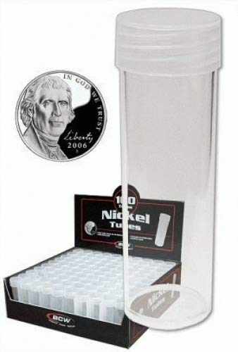 COIN STORAGE TUBES, round clear plastic w/ screw on tops for...