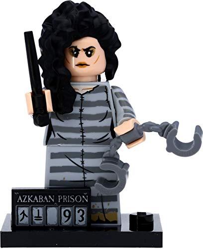 LEGO 71028 Harry Potter Mini personaggio in confezione regalo #12 Bellatrix Lestrange in vestito Askaban e scudo di detenzione