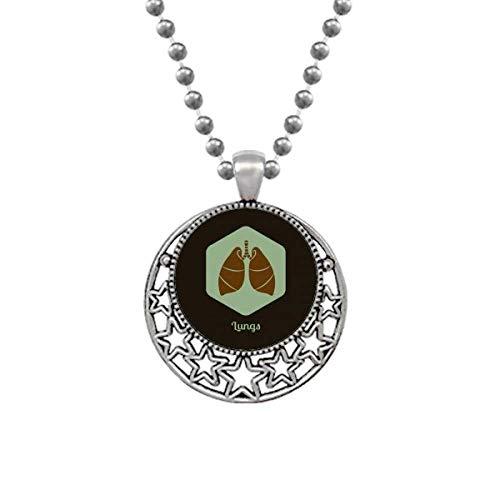 Body Organs Lung Orgeln Art Deco Gift Fashion Halsketten Anhänger Retro Moon Stars Schmuck
