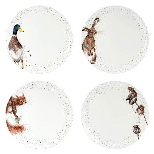 Portmeirion Home & Gifts WN4077-XB - Juego de 4 platos (26,5 cm, cerámica)