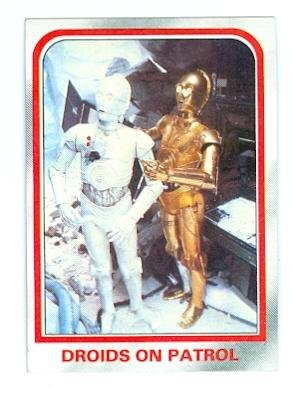 Star Wars Empire Strikes Back trading card 1980 Topps #15 C3PO Droids on Patrol