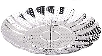 Good Living Stainless Steel Vegetable Steamer Basket For Pots and Pans Adjustable from 5-1/2 inch to 9 inch diameter #5990