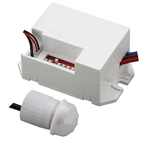 Maclean MCE32 Rilevatore Movimento con Sensore PIR Esterno a 360° 800W