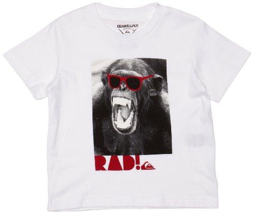 Quiksilver - T-Shirt - Garçon - Blanc (White) - FR : 3 ans (Taille fabricant : 3 years)