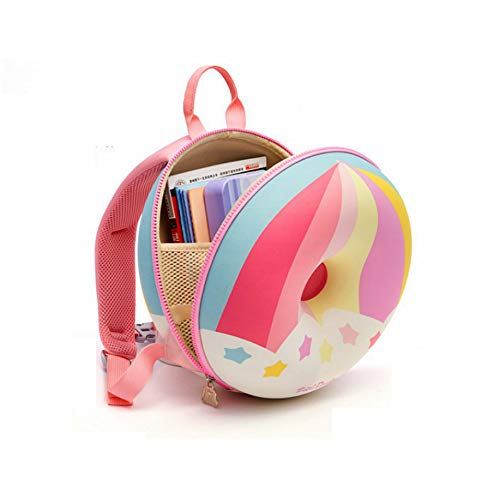 SANXDI Toddler Rainbow Backpack Cute Kindergarten Bag 3D Cute Animal Design Preschool Rucksack with Reins Zoo Design Rucksack for Boys Girls