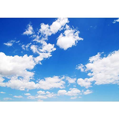 Fototapete Wand Foto Tapete Bild Vliestapete selbstklebende Textiltapete - Himmel Wolken Blau - no. 154, Größe:400x280cm Vlies