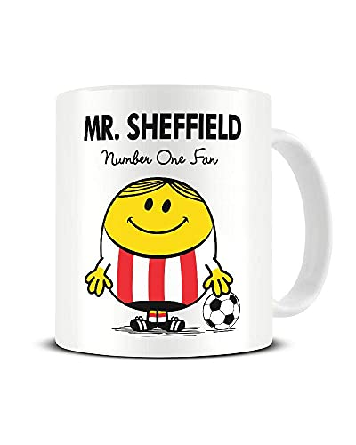 Taza de fútbol Mr Favourite | Premier League Club Soccer Tazas | Gran regalo divertido para un aficionado a los aficionados Taza de café (Aston Villa) FAL02-Sheffiled-Fa15-