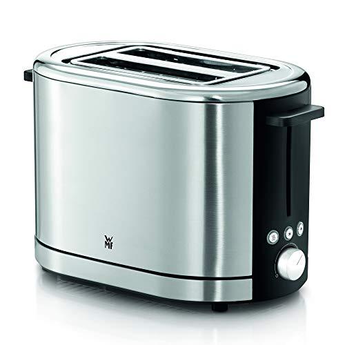 WMF Lono Toaster Edelstahl, Doppelschlitz Toaster mit Brötchenaufsatz, für XXL-Toast, 7 Bräunungsstufen, 900 W, edelstahl matt