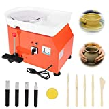 JFIEEI Pottery Wheel Pottery Forming Machine 25CM 350W Electric Pottery Wheel with Foot Pedal DIY Clay Tool Ceramic Machine Work Clay Art Craft for for School Children Teaching
