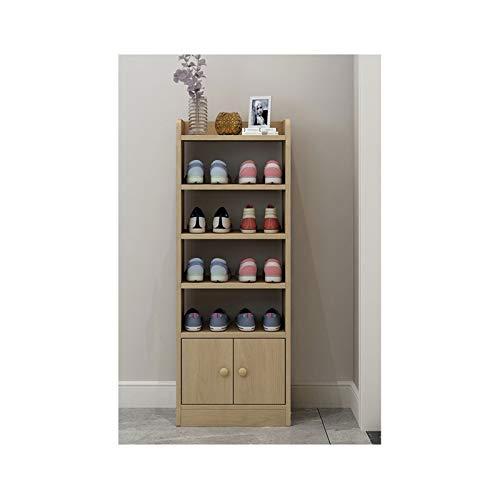 Zapatero de madera para zapatos, organizador de zapatos de gran tamaño, para ahorrar espacio, para entrada/sala de estar/pasillo (color: natural, tamaño: 41,2 cm)