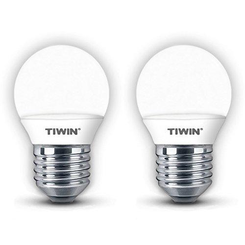 2er Pack TIWIN LED E27 A+ Lampe, ersetzt 25W, Kaltweiss (5700K), 250 Lumen, 3W, 220 Grad, 8x SMD2835, Doppelpack