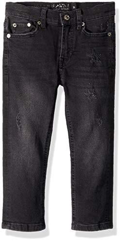 Lucky Brand Big Boys' 5-Pocket Skinny Fit Denim Jean, Rincon Black, 16
