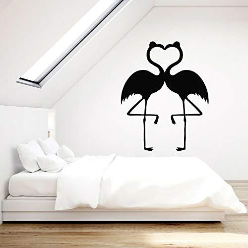 Pájaros Pegatinas de pared Flor Pájaros Amor Romance Dormitorio Sala de estar Decoración del hogar Vinilo Pegatinas de pared Ventana Mural Arte Amor Corazón
