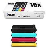 10x Eurotone Toner per Brother MFC-L 9570 wie TN-910 TN910 Set tutti i colori