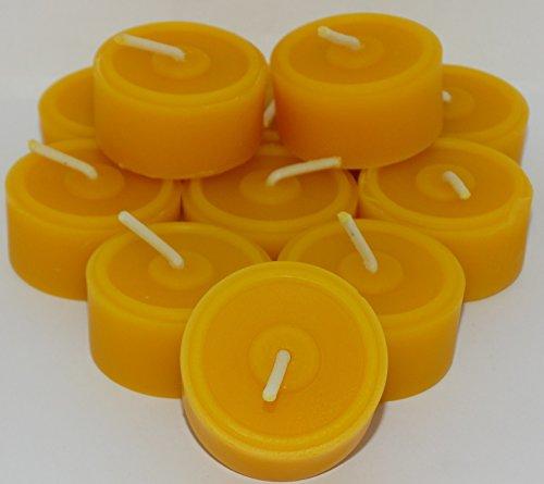 AMA-Feinkost - Juego de 20 velas de té de cera de abeja...