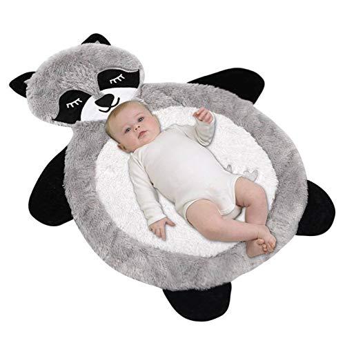 Baby Animal Mat Bear, Plush Newborn Tummy Time Play Mat, Ultra Soft and...