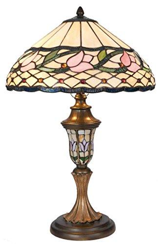 LumiLamp 5LL-5774 - Lampada da Tavolo Tiffany, in Vetro colorato, Ø 40 x 60 cm