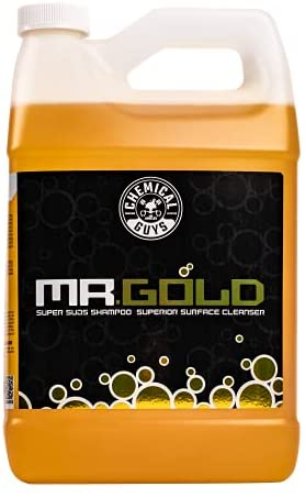 Chemical Guys CWS213 Mr. Gold Foaming Car Wash Soap (Works with Foam Cannons, Foam Guns or Bucket Washes), 1 Gallon, Pina Colada Scent