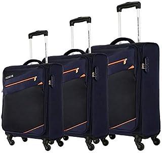 اميريكان توريستر حقائب سفر بعجلات للجنسين 3 قطع - اسود