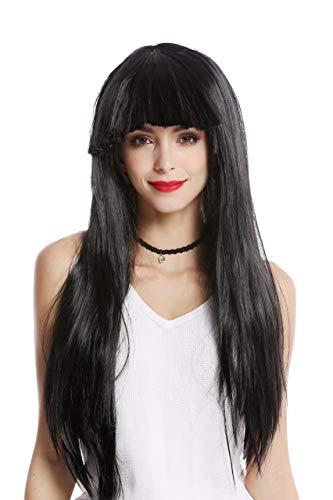 haz tu compra pelucas negras lisas en línea