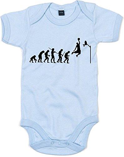 Print Wear Clothing Evolution of Basketball Sports Jordan Inspirert Enfant Imprimé bébé Grenouillère Bleu/noir 12-18 mois