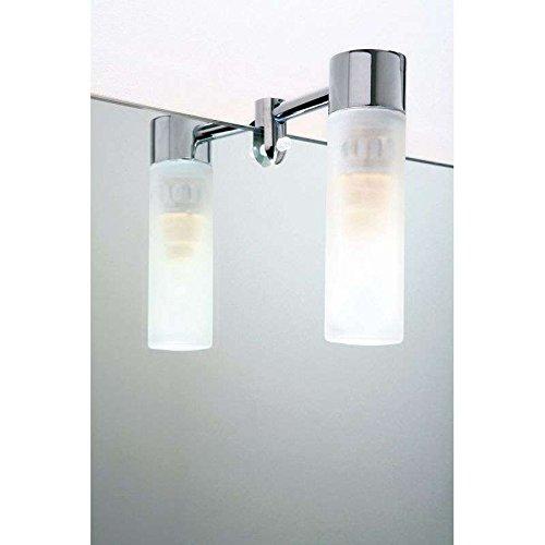 Aric ARI03942 Applique miroir halogène 230 volts, Aluminium, 28 W, Blanc, 10 x 10
