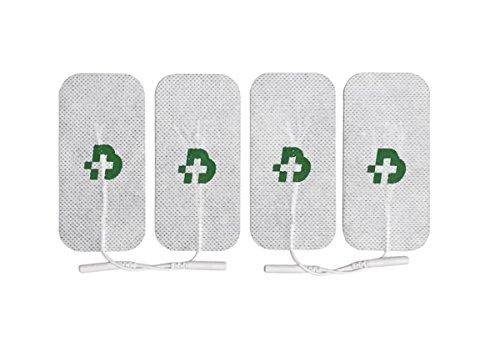 4 electrodos Tesmed para electroestimulador mm. 50 x 100, universales, lavables