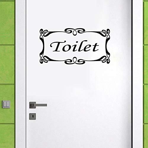 Baño/ducha/puerta del inodoro pegatinas de pared calcomanías de vinilo decoración del hogar arte diy pegatinas impermeables pegatinas de pared mural A5 48x27,5cm
