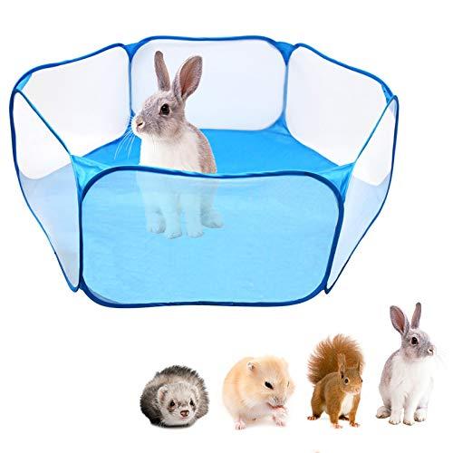 Portátil plegable para mascotas, jaula de animales pequeños para interiores y exteriores, con alfombrilla para juegos para perros, gatos y animales pequeños