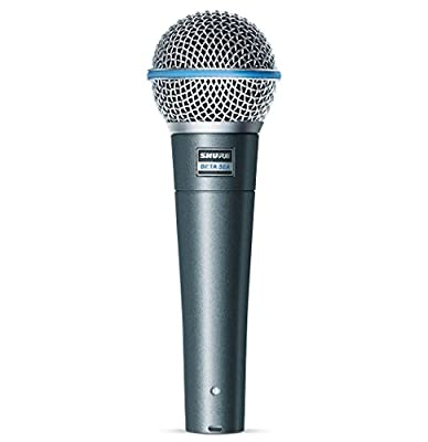Shure BETA 58A Supercardioid Dynamic Microphone with High Output Neodymium Element for Vocal/Instrument Applications by Shure Incorporated